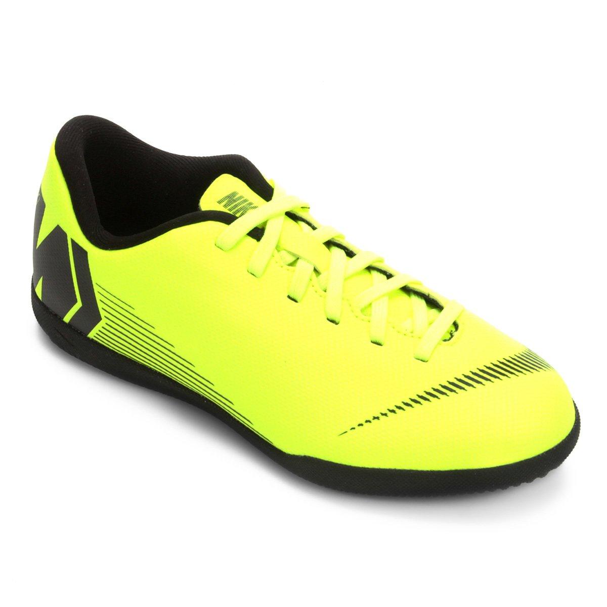 73788023fc Chuteira Futsal Infantil Nike Mercurial Vapor 12 Club - Verde e Preto