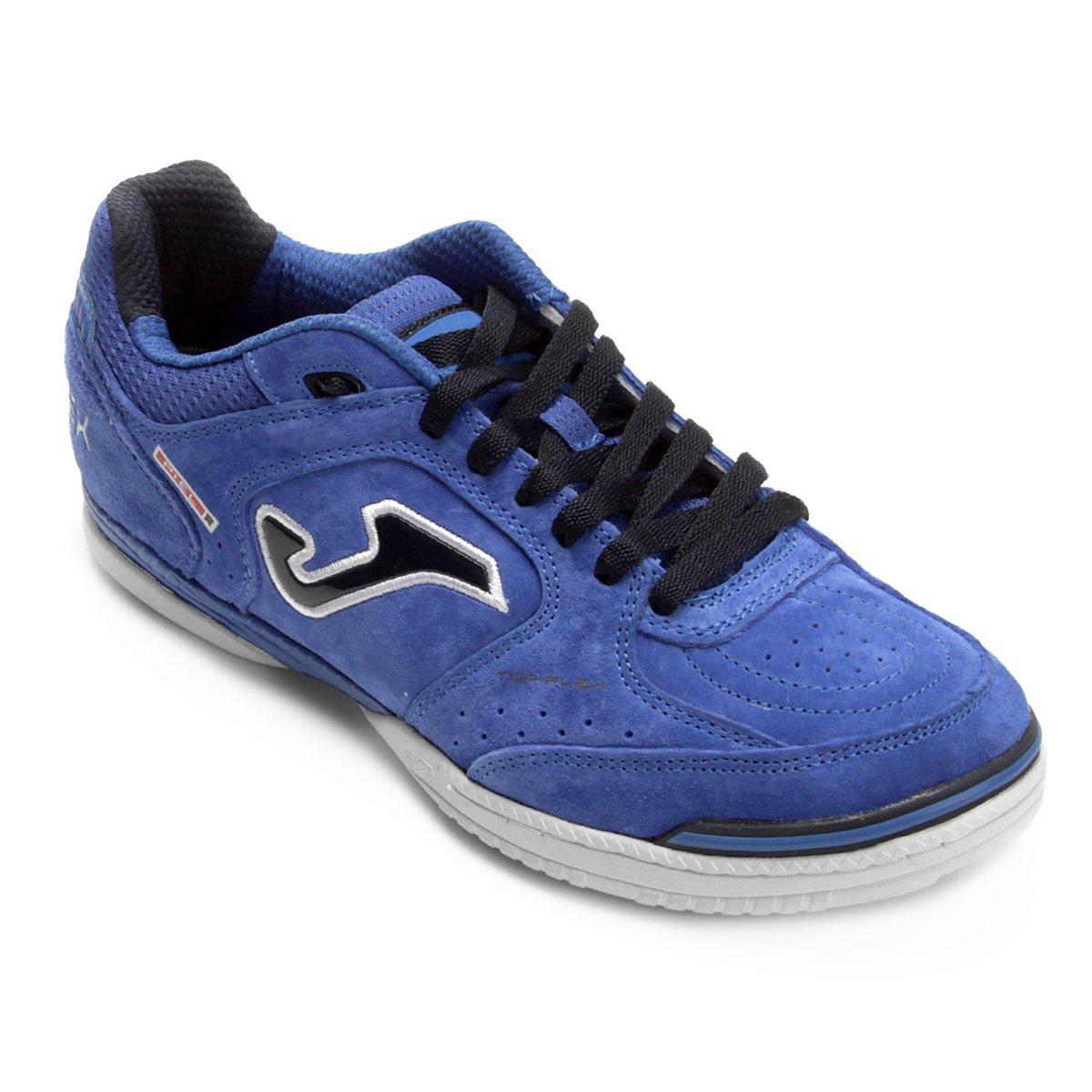 05b75a9ceb Chuteira Futsal Joma Top Flex Nobuck 835 IN - Azul