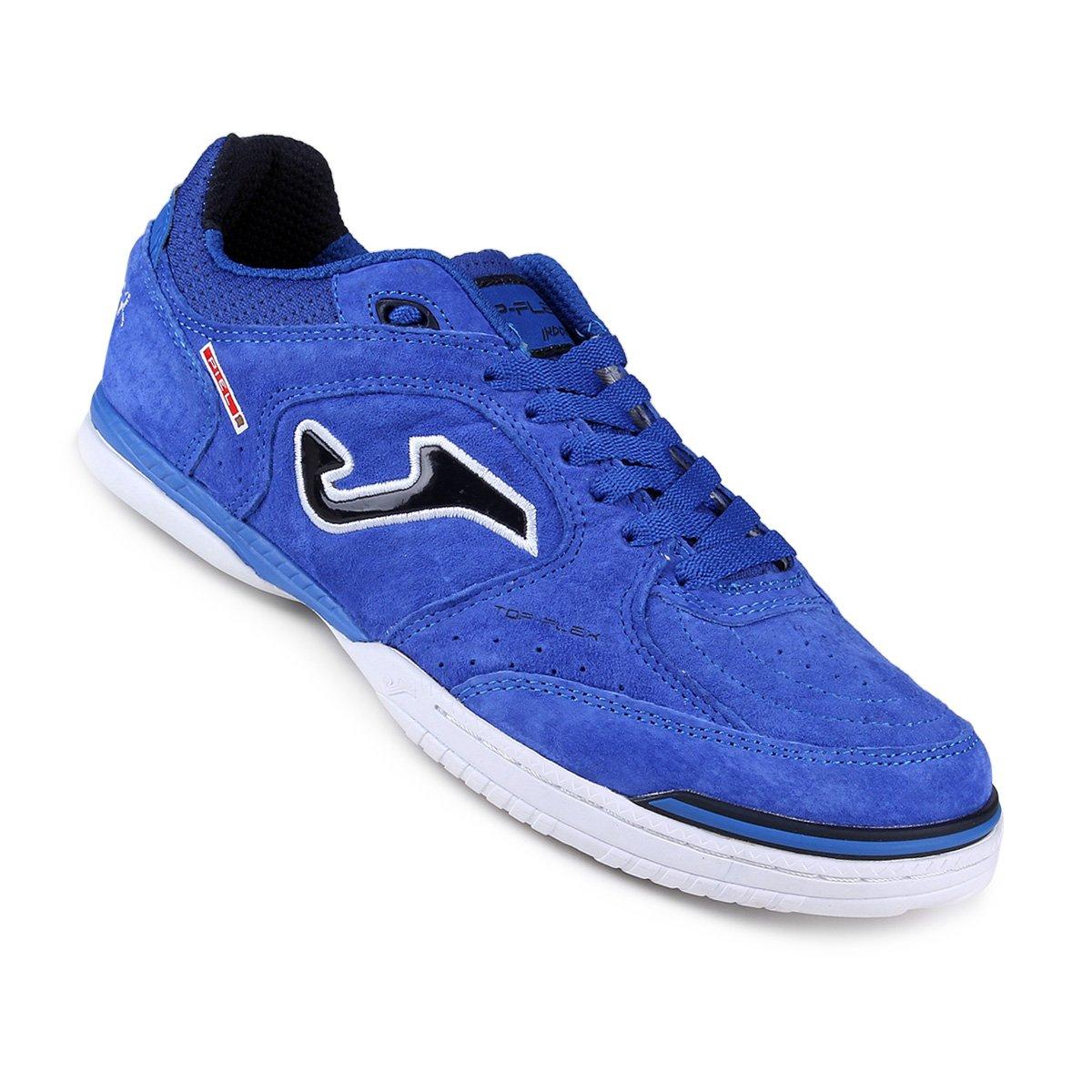 bf68f68d85a Chuteira Futsal Joma Top Flex - Azul e Branco - Compre Agora ...