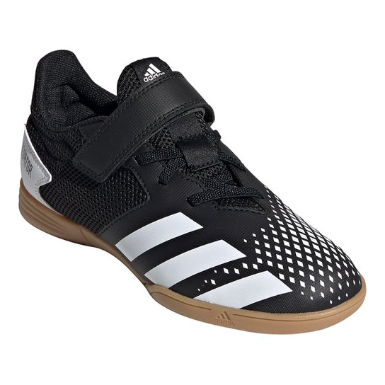 Chuteira Futsal Juvenil Adidas Predator 20 4 - Preto+Creme