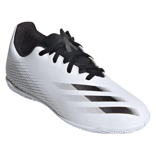 Chuteira Futsal Juvenil Adidas X Ghosted 20 4 - Branco+Preto