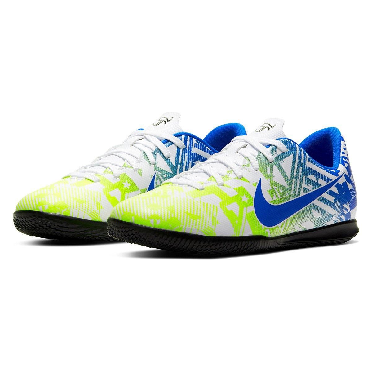 Siempre Elegante Adecuado  Chuteira Futsal Juvenil Nike Mercurial Vapor 13 Club Neymar Jr IC - Branco  e Azul   Allianz Parque Shop