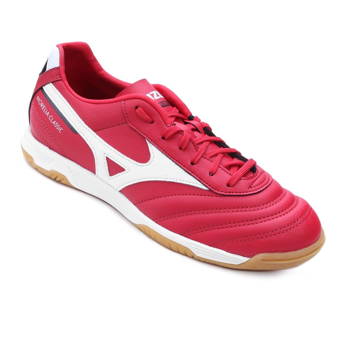 3ee181bbc Chuteira Futsal Mizuno Morelia Classic IN P - Vermelho e Branco - Compre  Agora