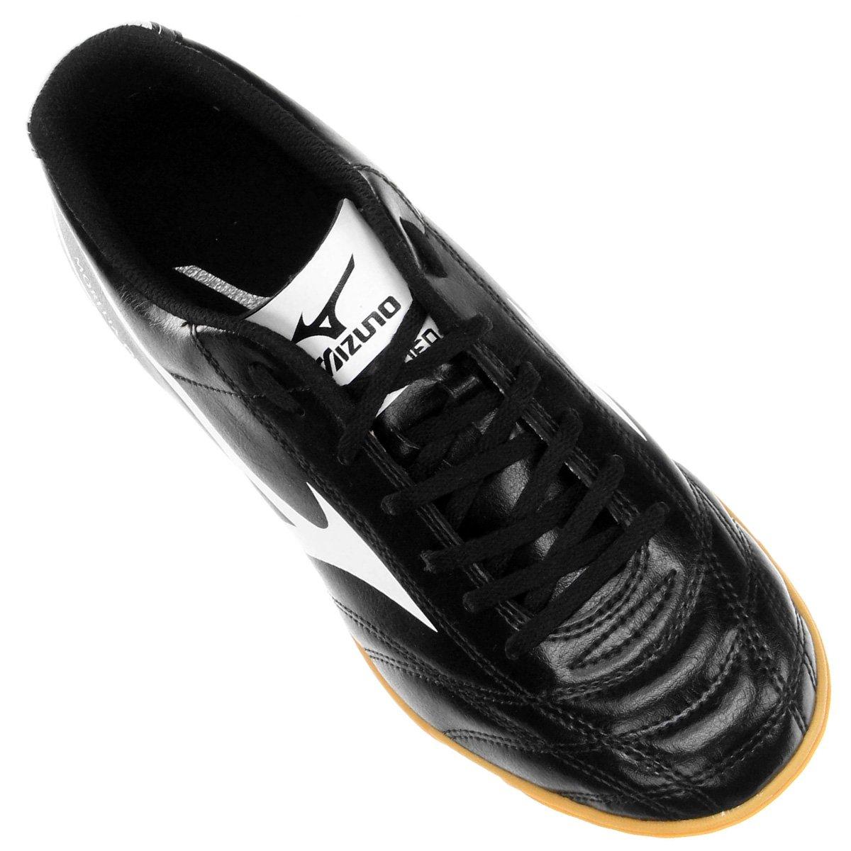 Chuteira Futsal Mizuno Morelia Neo Club IN - Preto e Branco - Compre ... 896f2c30e8