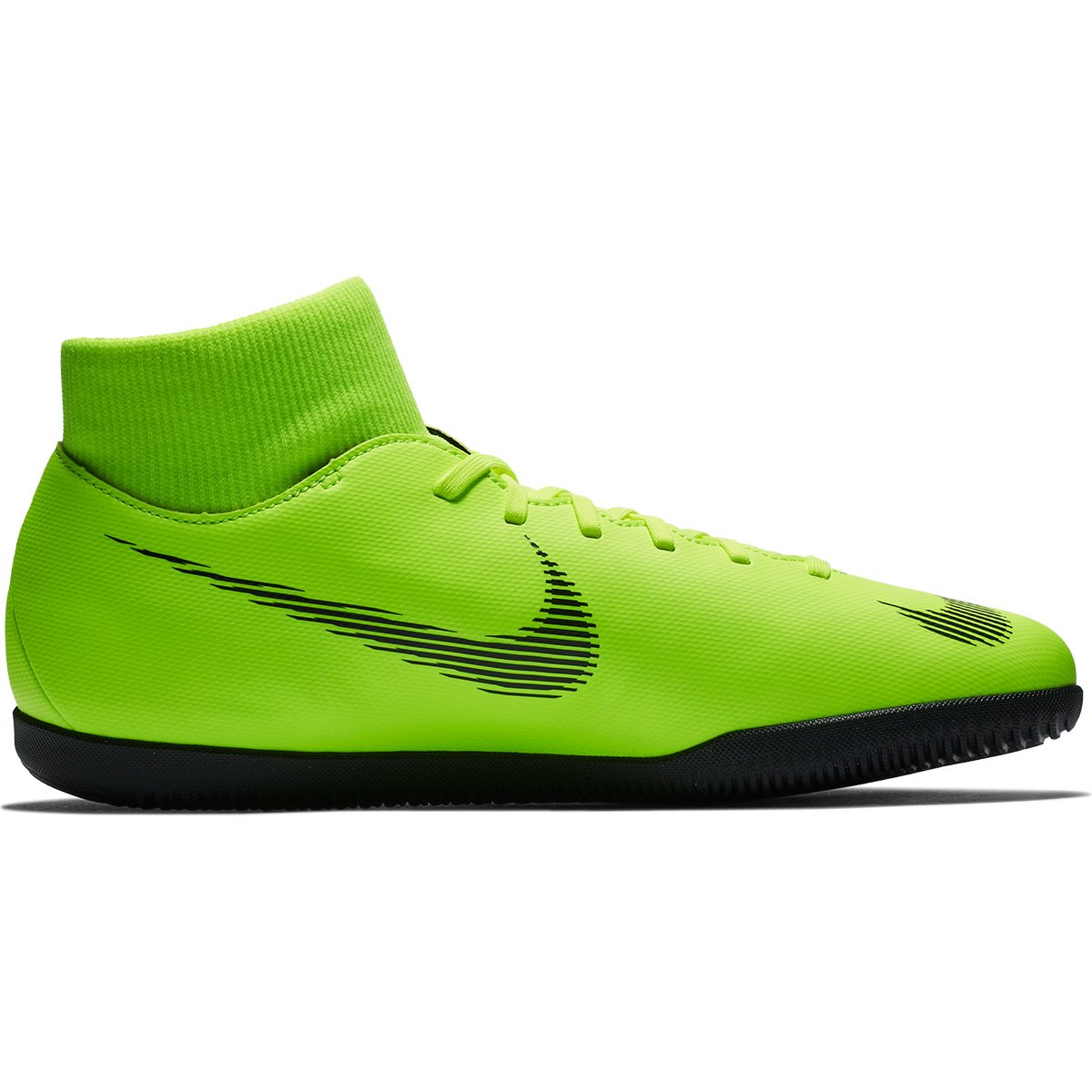 Chuteira Futsal Nike Mercurial Superfly 6 Club - Verde e Preto ... 926995001bfcc