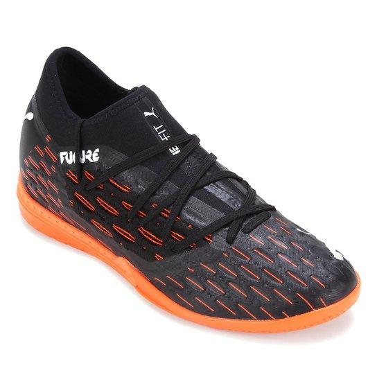 Chuteira Futsal Puma Future 6.3 Netfit - Preto+Laranja