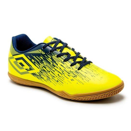 Chuteira Futsal Umbro Acid II - Marinho+Amarelo