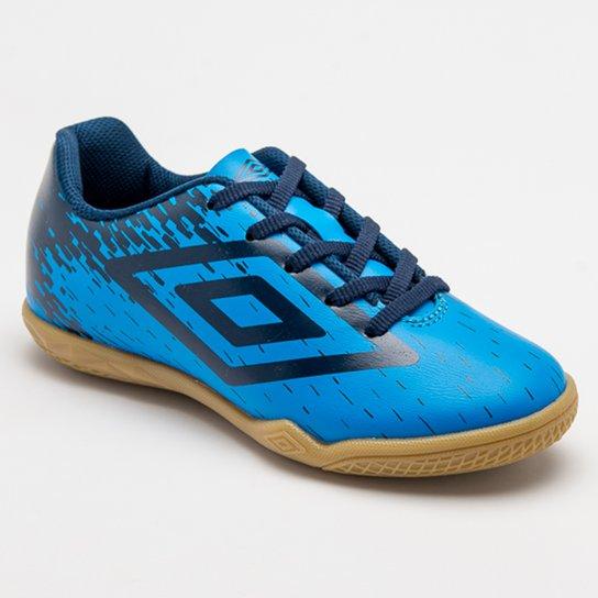 Chuteira Futsal Umbro Acid Infantil - Azul+Marinho
