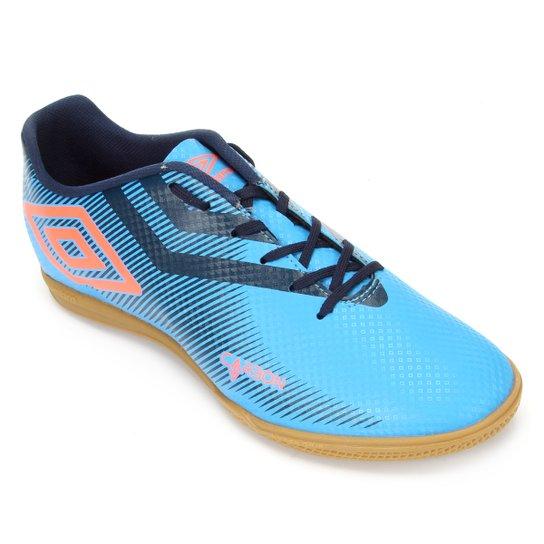 Chuteira Futsal Umbro Carbon II - Azul+Bege