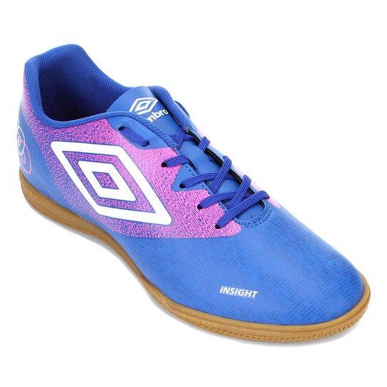 Chuteira Futsal Umbro Insight - Azul+Branco