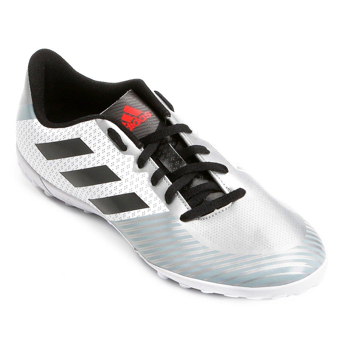4772a3a646 Chuteira Society Adidas Artilheira 18 TF - Branco e Preto