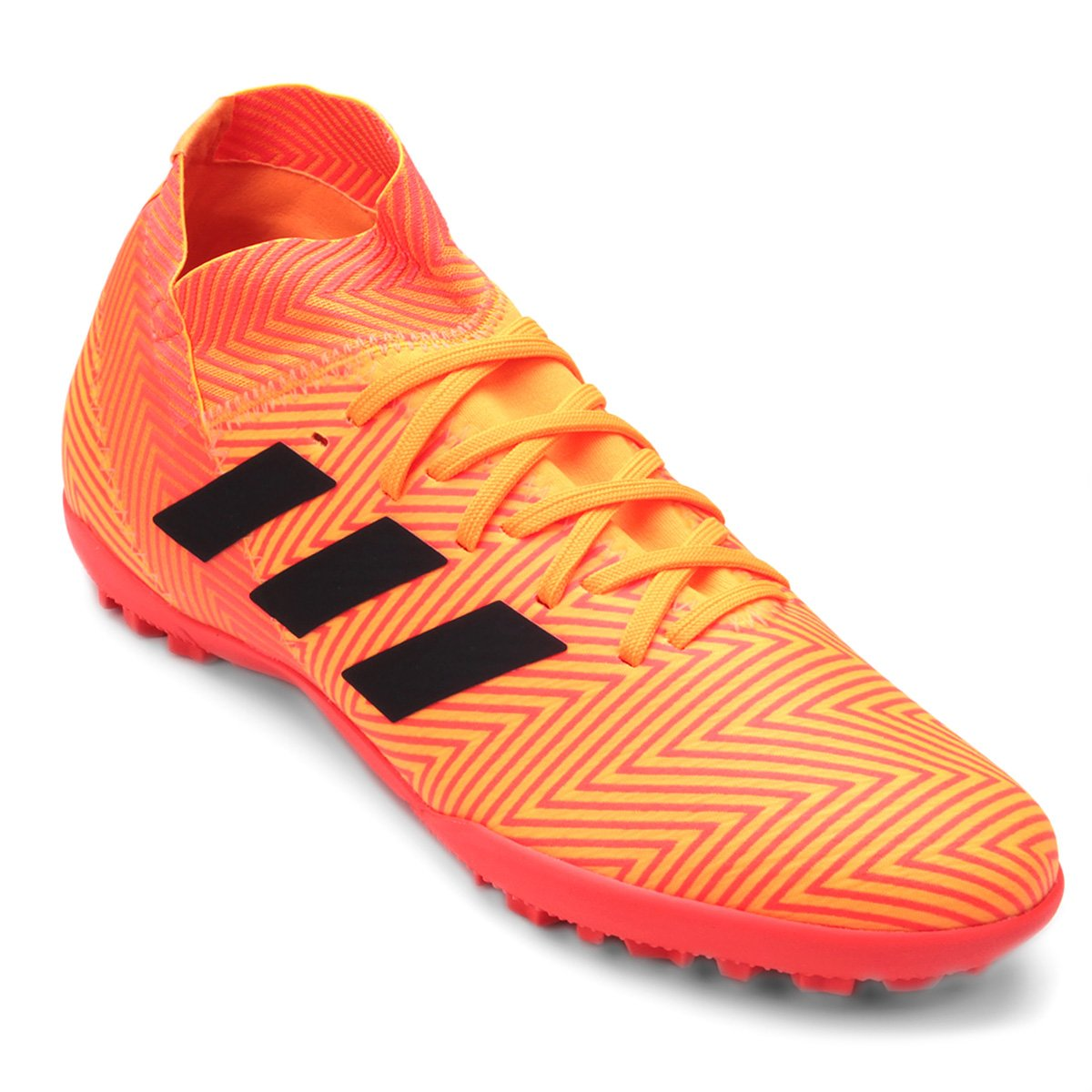 4cc9cd4b7bd Chuteira Society Adidas Nemeziz Tango 18 3 TF - Laranja e Preto - Compre  Agora