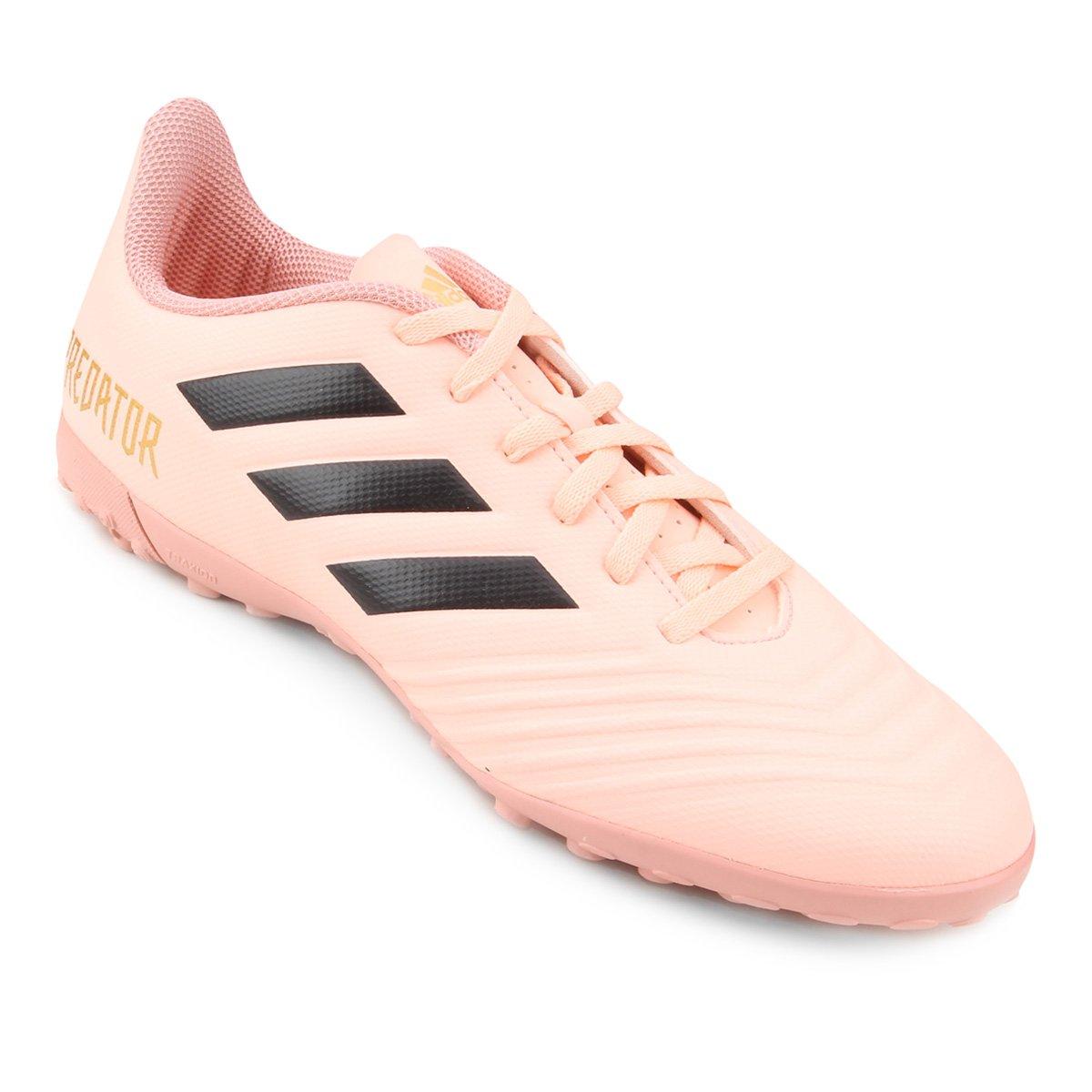 Chuteira Society Adidas Predator Tan 18 4 TF - Rosa e Preto - Compre ... c55110b41c4dd
