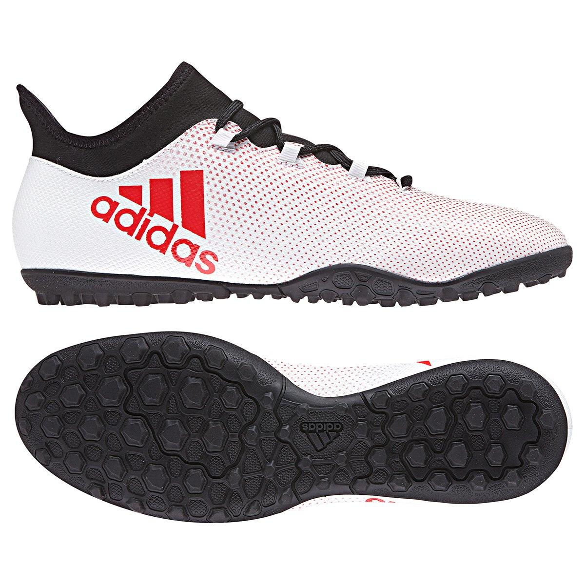 f63b591592 Chuteira Society Adidas X 17.3 TF - Cinza e Preto