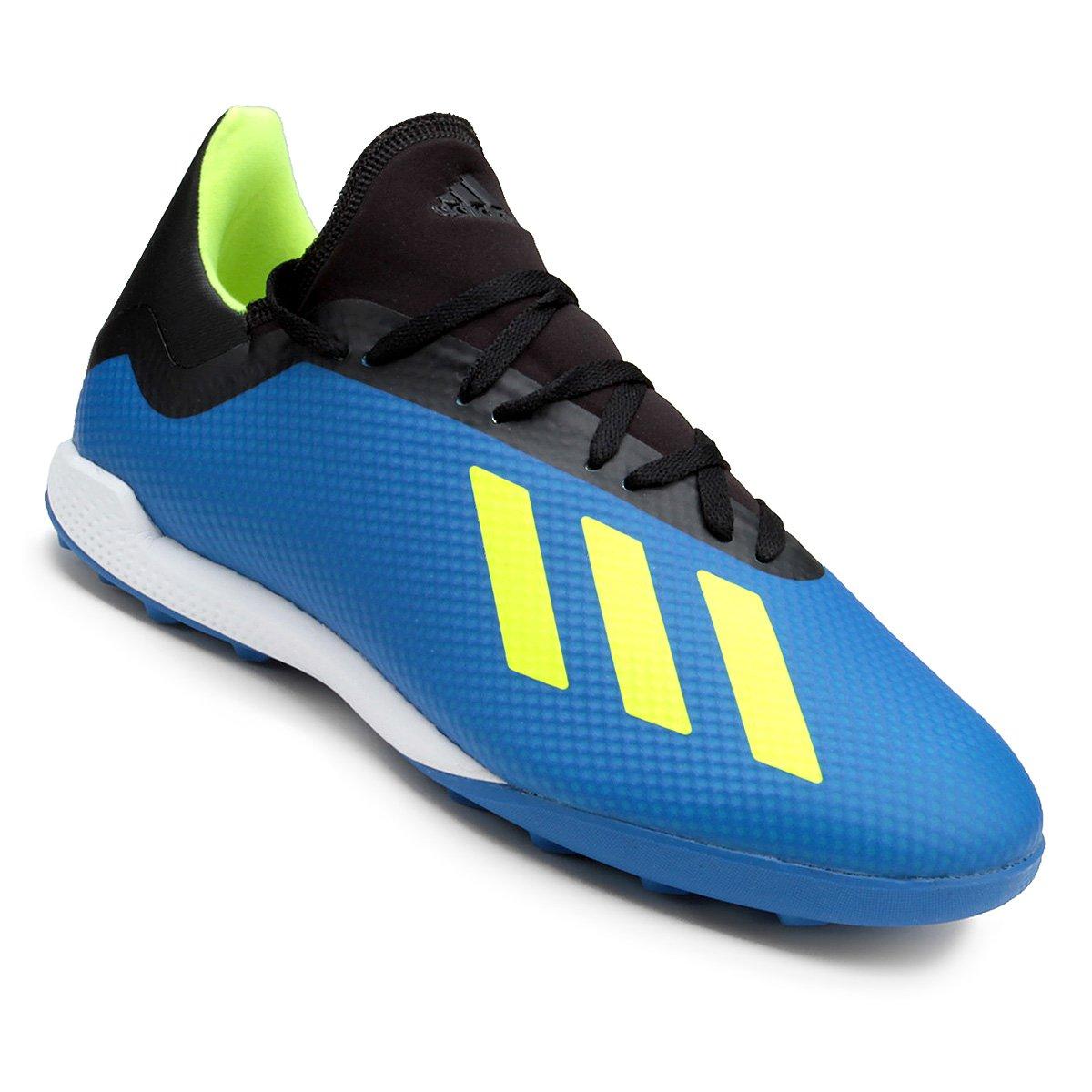 promo code ce396 2940c Chuteira Society Adidas X Tango 18 3 TF - Azul e Preto - Compre Agora    Allianz Parque Shop