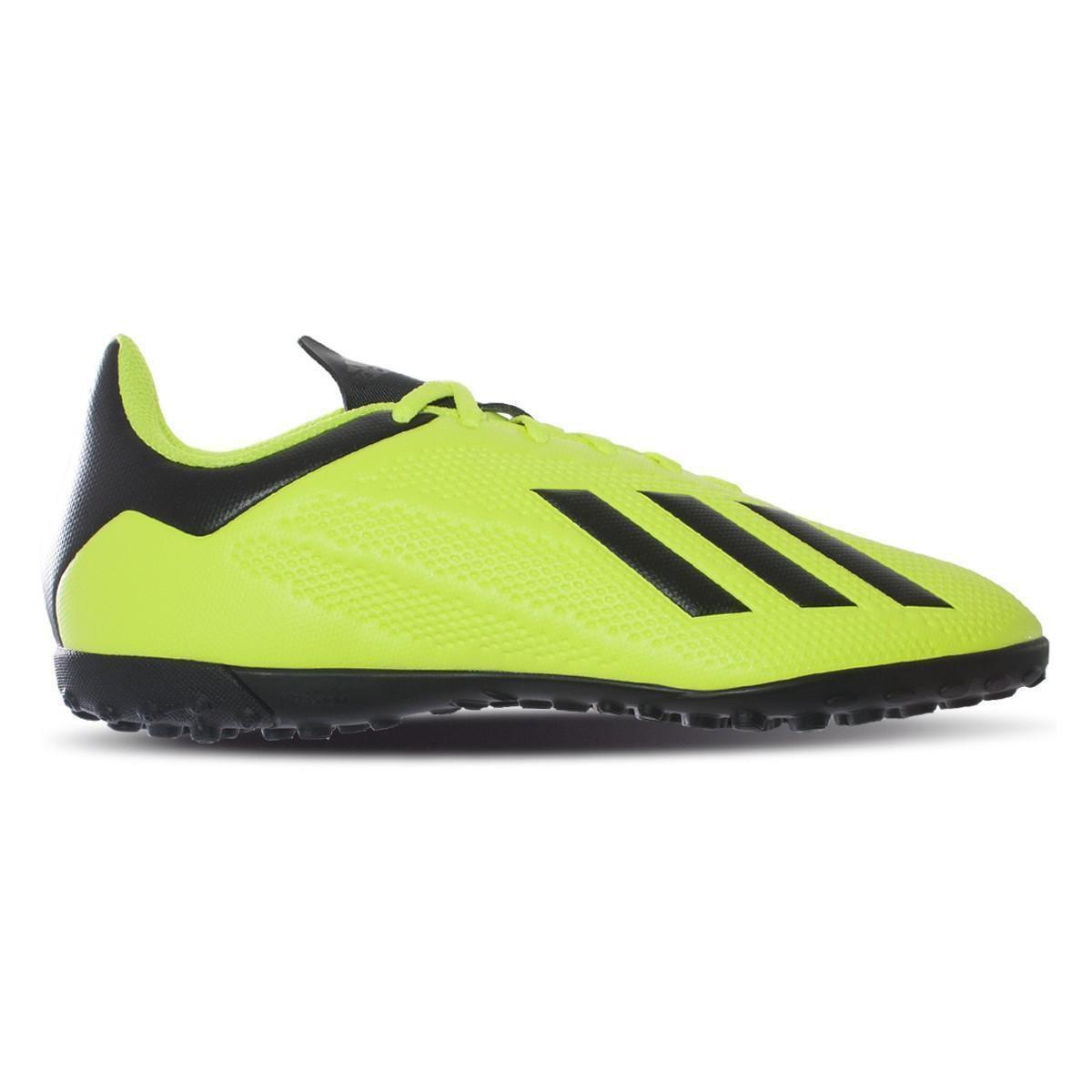 Chuteira Society Adidas X Tango 18 4 TF - Preto e verde - Compre ... bd1bfb9516b9b