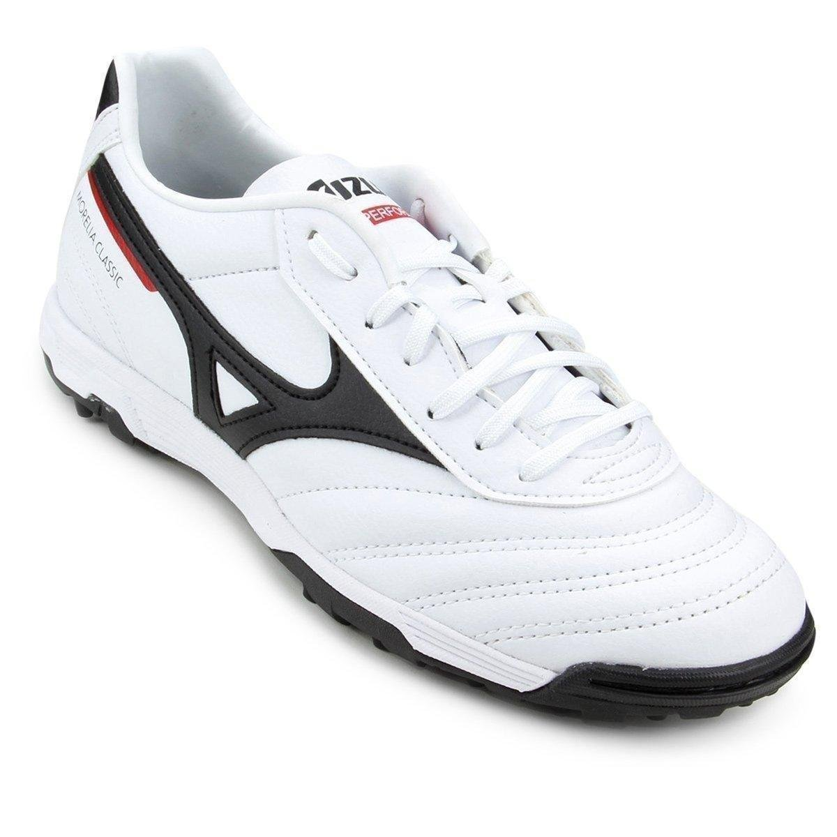 b2e05241541bb Chuteira Society Mizuno Morelia Classic AS P - Branco e Preto | Allianz  Parque Shop