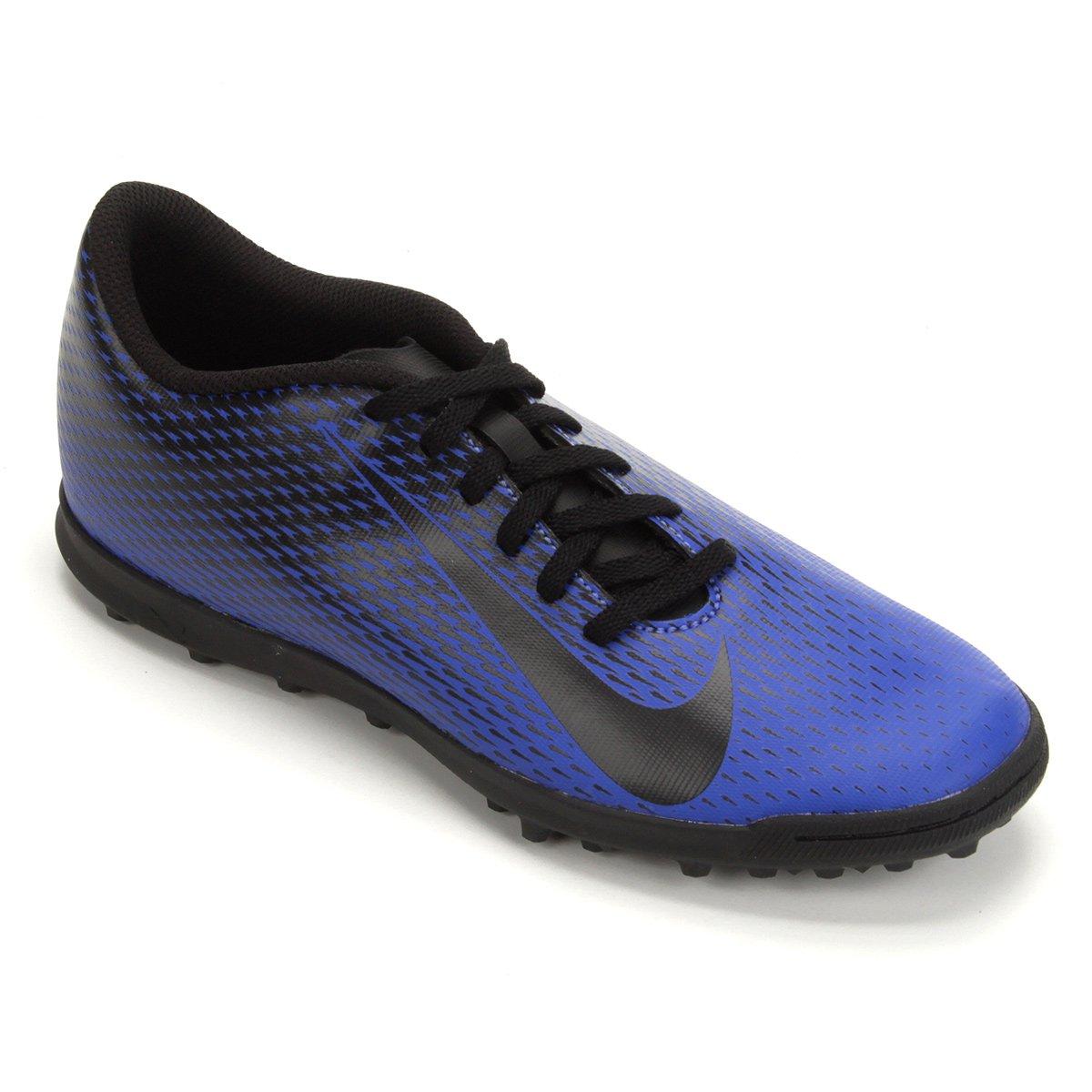 380a07cd418 Chuteira Society Nike Bravata 2 TF - Azul e Preto - Compre Agora ...