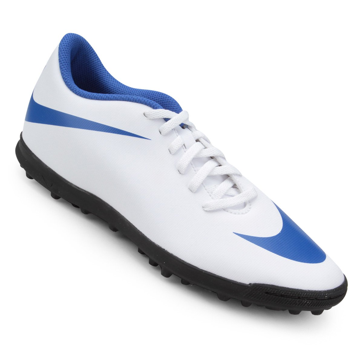 d2eaf731f1 Chuteira Society Nike Bravata 2 TF - Branco e Azul