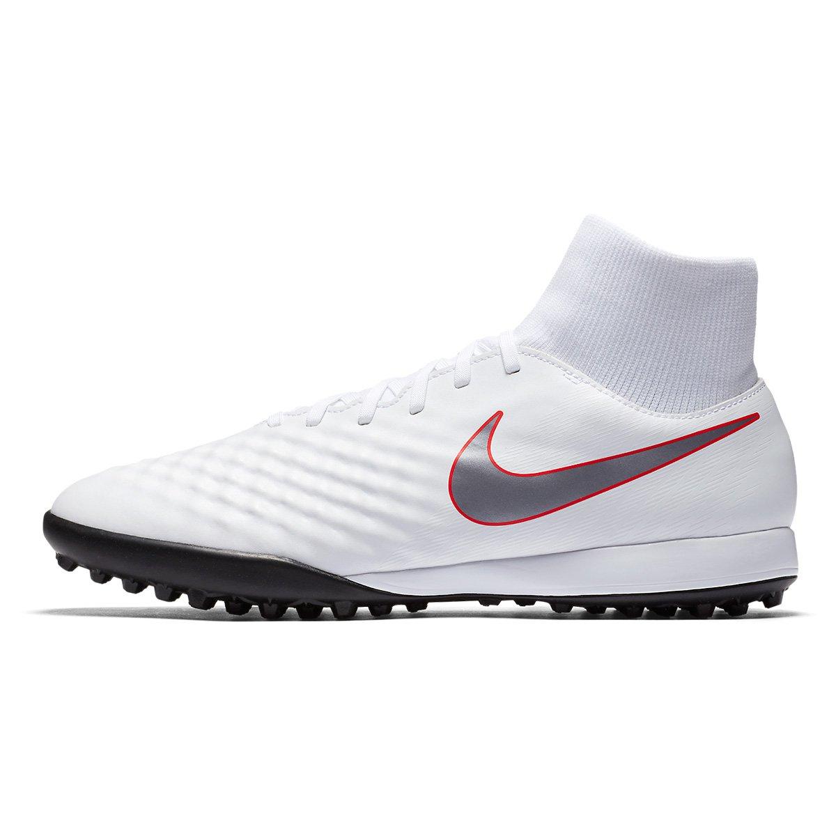 983527063538a Chuteira Society Nike Magista Obra 2 Academy Dinamic Fit - Branco e Cinza |  Allianz Parque Shop