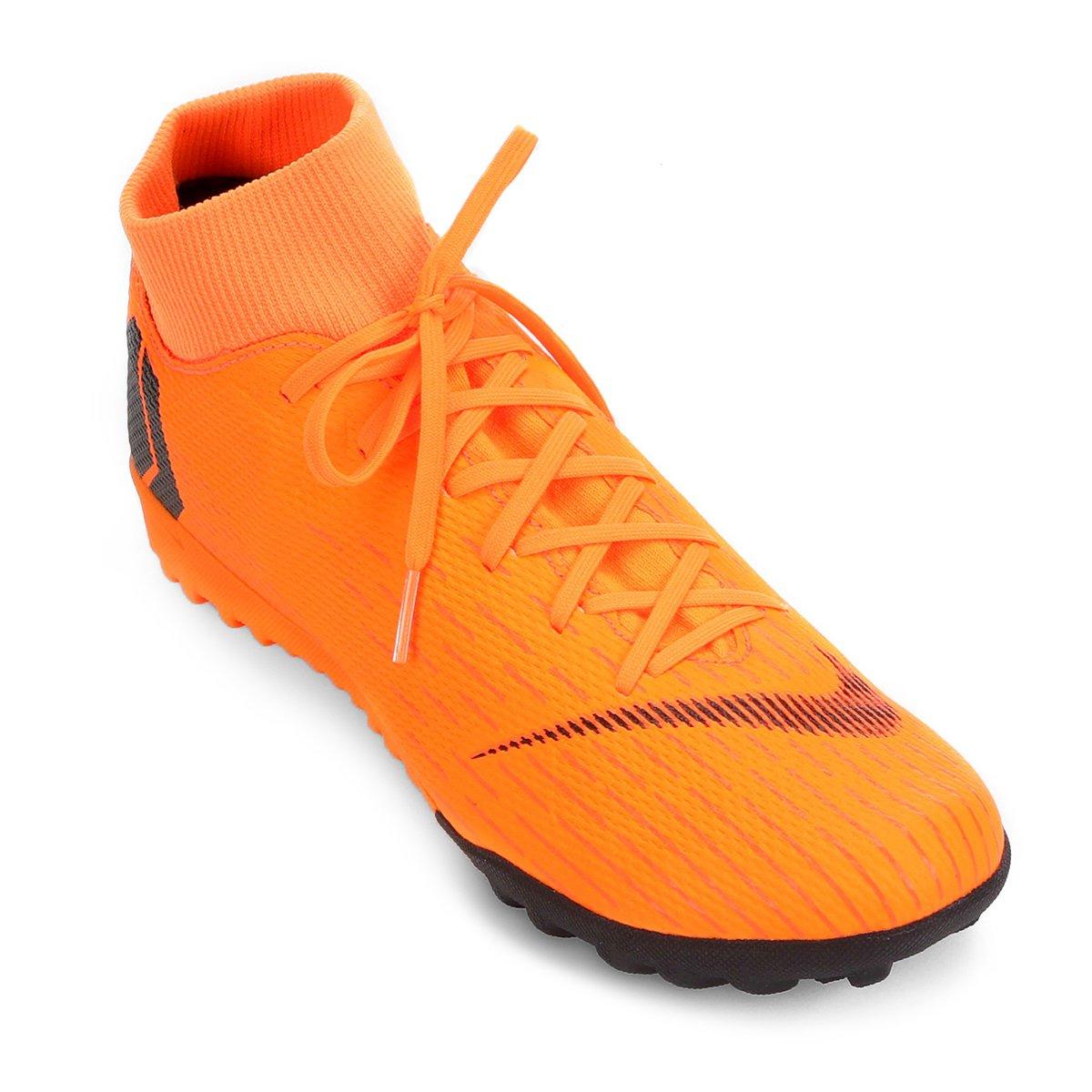 bb88d4e794a37 Chuteira Society Nike Mercurial Superfly 6 Academy - Laranja e Preto |  Allianz Parque Shop