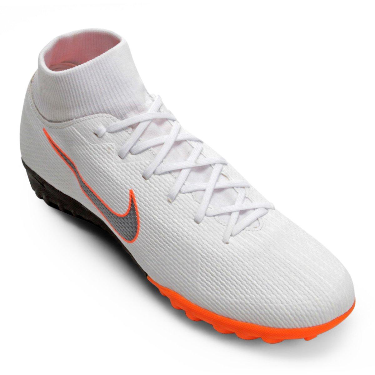 5729da3325 Chuteira Society Nike Mercurial Superfly 6 Academy - Branco e Cinza ...