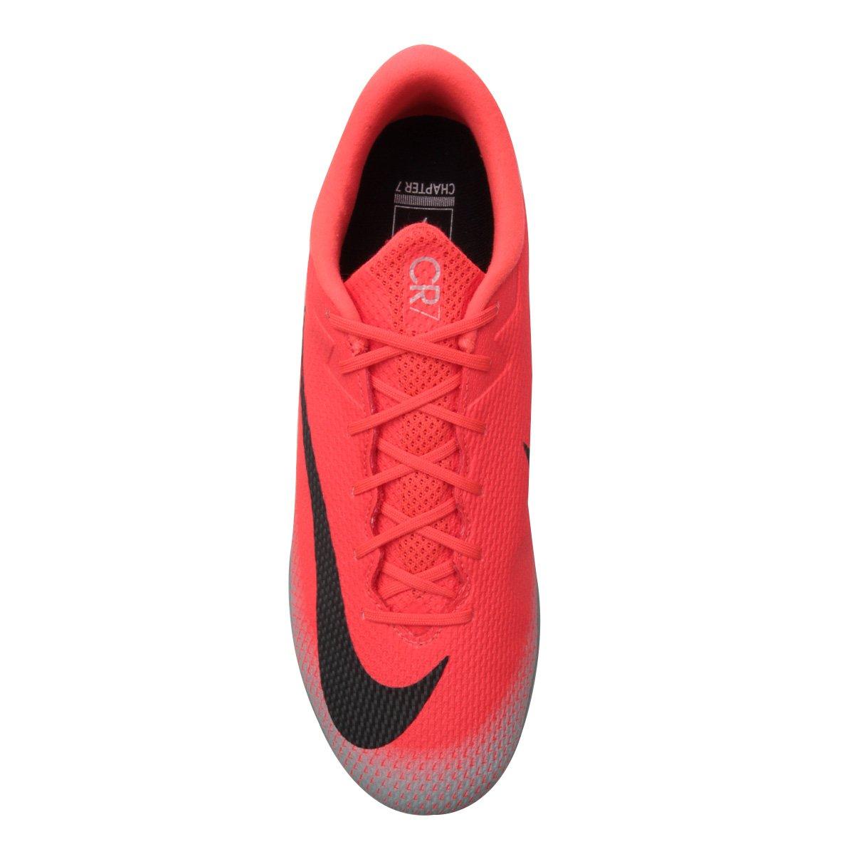 Chuteira Society Nike Mercurial Vapor 12 Academy CR7 TF - Compre ... 0c13a3c462811