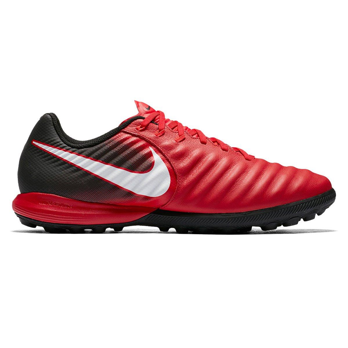 8417520d988 Chuteira Society Nike Tiempo Finale TF - Vermelho e Branco - Compre Agora