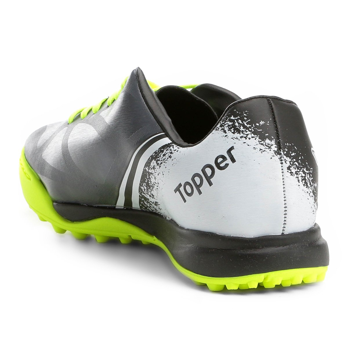 Chuteira Society Topper Trivela - Preto e Chumbo - Compre Agora ... 092d0fa401d1c