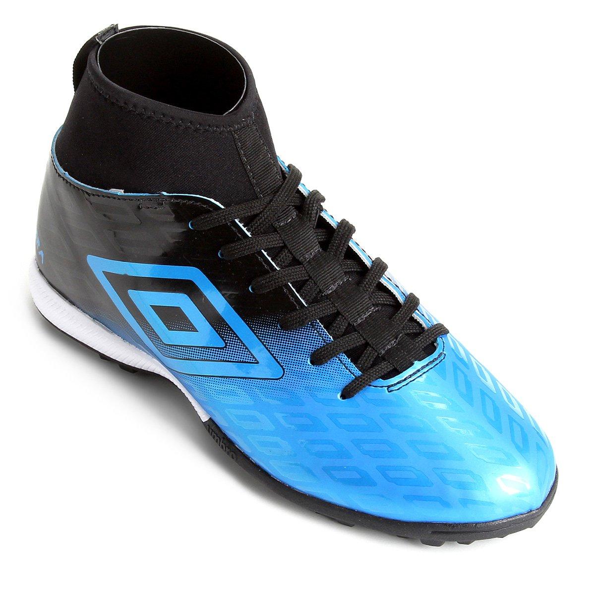 e17319c45e Chuteira Society Umbro Calibra - Azul e Preto - Compre Agora ...