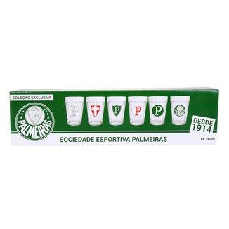 Conjunto de Copos Americano Palmeiras Allmix 190 ml - 6 Unidades