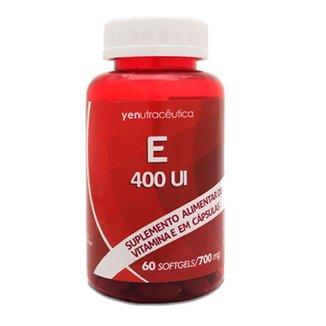 E 400UI - Suplemento alimentar Vitamina E - 60 cápsulas 700mg - Yen Nutracêutica