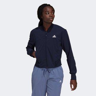 Jaqueta Adidas Cropped Aeroready Designed To Move Feminina
