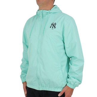 Jaqueta Corta-Vento MLB New York Yankees New Era Basic Sazonal Quad Masculina