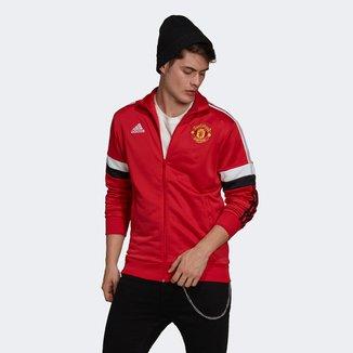 Jaqueta Manchester United Adidas 3-Stripes Track Top Masculina
