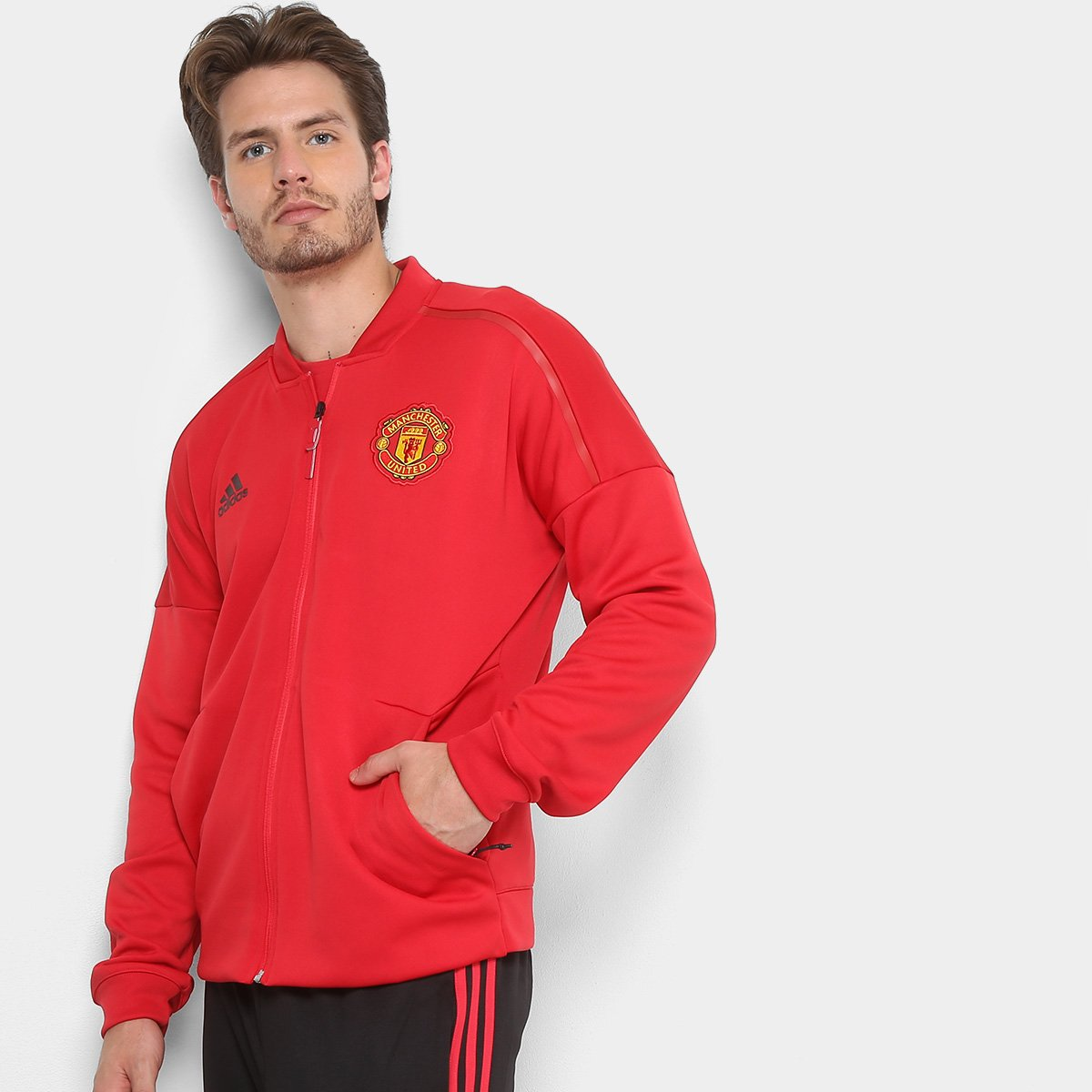 acf5bfc67 Jaqueta Manchester United Adidas Masculina - Compre Agora