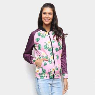 Jaqueta New Era Track Floral Feminina