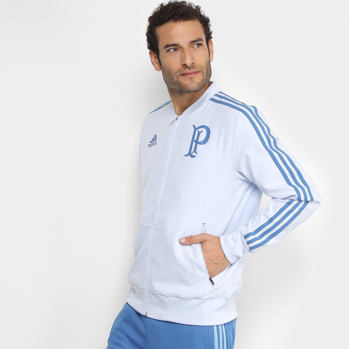 e68ea8fd9ea95 Jaqueta Palmeiras Adidas Viagem Masculina - Azul Claro - Compre Agora