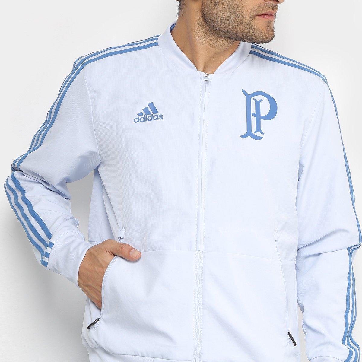Jaqueta Palmeiras Adidas Viagem Masculina - Azul Claro - Compre ... 3bd0cd33e836e