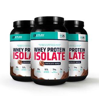 Kit 3x Whey Protein Isolate Stark Supplements 1kg