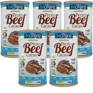 Kit 5X Proto Beef Cacau - 70% Cacao 420g - Nature