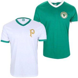 Kit C/ 2 Camisas Palmeiras Retrô