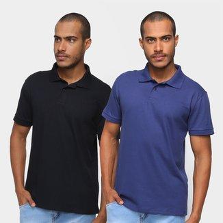 Kit Camisa Polo Burn Básica C/ 2 Peças Masculina