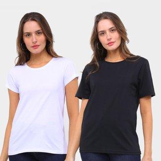 Kit Camiseta Básicos C/ 2 Peças Feminina