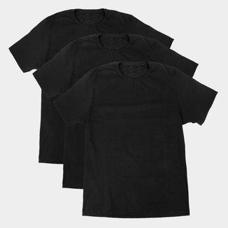 Kit Camiseta Básicos C/ 3 Peças Feminina