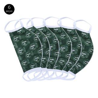 Kit de Máscaras de Proteção Palmeiras Futuro Mais Verde Laváveis - 6 Unid