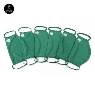 Kit de Máscaras de Proteção Palmeiras Modelagem Ampla Laváveis - 6 Unid