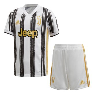 Kit Juventus Infantil Home 20/21 s/n° Torcedor Adidas