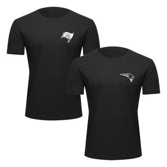 Kit NFL Camiseta New Era Tampa Bay Buccaneers + Camiseta New Era New England Patriots Masculino