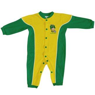 Macacão Longo para Bebê do Brasil Torcida